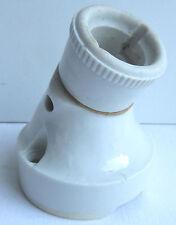 lampe applique Art Déco pour salle de bain, sabot en porcelaine blanche