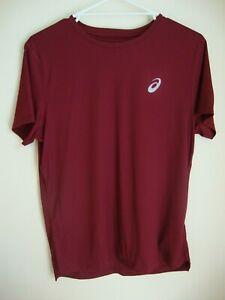 Asics Silver Short Sleeve Mens Running Fitness Training T-Shirt  - Size M EUC
