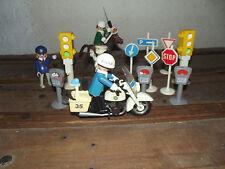 playmobil police 3489  feux tricolores  park-mètres 1988 vintage