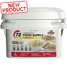 4 Lbs Emergency Food Supply Meal Storage Survival Bucket 42 Serving 72 Hour Kit