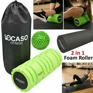Locaso Fitness 2 in 1 Foam Roller Exercise With Massage Ball and Carry Bag UK