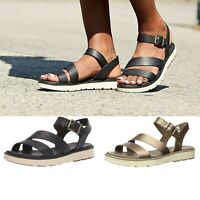 Timberland Women Bailey Park Comfort Leather Buckle Ankle Strap Sandals Shoes