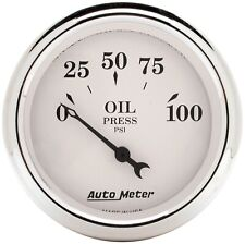 AutoMeter 1628 Old Tyme White Electric Oil Pressure Gauge