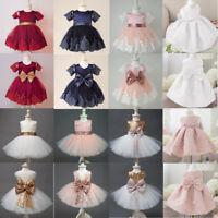 AU Full Length Flower Girl Dress Lace Tulle Wedding Birthday Party Girls Dress
