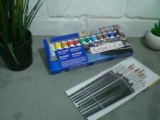 Oil Paints Brushes Art Artists Set Tubes Painting Air Painter Fine Colours Kit
