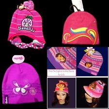 Dora Barbie or Mr Men Little Miss Girls Beanies Kids Character Double Knit Caps