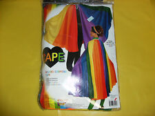 CAPE RAINBOW COLORS WOMEN MEN UNISEX HALLOWEEN COSTUME ONE SIZE