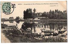 CPA 89 - SENS (Yonne) - La Pointe de l'Ile d'Yonne et le Pont du Chemin de Fer
