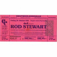 ROD STEWART Concert Ticket Stub BERLIN 10/24/86 EVERY BEAT OF MY HEART FACES