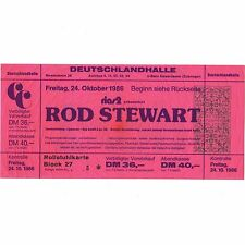 ROD STEWART Concert Ticket Stub BERLIN 10/24/86 EVERY BEAT OF MY HEART FACES