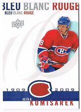 2008-09 Upper Deck Montreal Canadiens Centennial Jersey #LBBR-MK Mike Komisarek