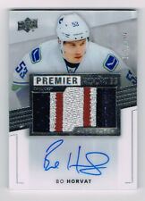 14-15 Bo Horvat Canucks Upper Deck UD Premier Rookie RC patch auto /199 HOT!