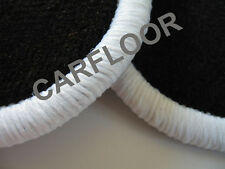 Fiat Idea Bj. ab 12.03 Fußmatten Velours  schwarz mit Rand weiß