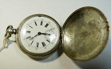 Zenith Billodes Pocket Watch  silver double coat