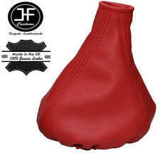 RED REAL LEATHER MANUAL GEAR GAITER FITS FIAT PANDA 2013+