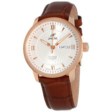 Enicar Silver Dial Automatic Mens Leather Watch 3168/50/351PZ