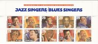 US Stamp 1994 Jazz & Blues Singers Billie, Bessie, Muddy 10 Stamp Block #2861a