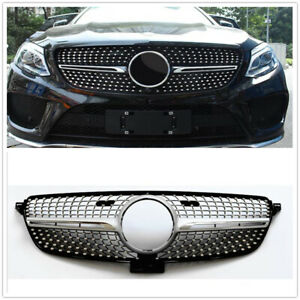 Front Vent Mesh Diamond Grill Grille For Mercedes-Benz GLE W166 2015-2017