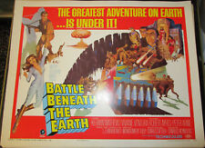 BATTLE BENEATH THE EARTH! '68 KERWIN MATTHEWS ORIGINAL 1/2-SHEET FILM POSTER!
