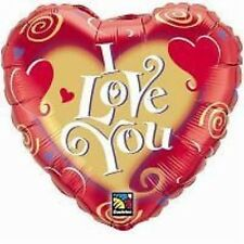 I LOVE YOU, VALENTINES DAY, WEDDING, LOVE HEART -  45cm FOIL BALLOON - RED, BEAR
