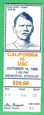 11/14/89 CAL/USC COLLEGE FOOTBALL TICKET STUB