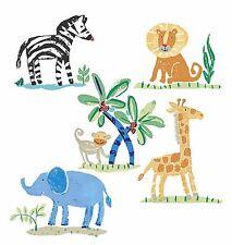 Jungle Animals Safari Lions Elephants Monkey Zebra Giraffe 25 Wallies Stickers