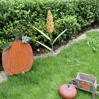 Fall Harvest Metal Corn Stalk Decorative Garden Stake Yard Patio Lawn Outdoor