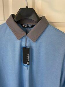 "Travis Mathew ""Jewett"" No Logo Golf Polo Medium Parisian Blue"