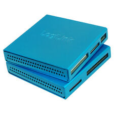 LogiLink CR0020 Cardreader Kartenlesegerät USB 2.0 extern Alu Blau All in One