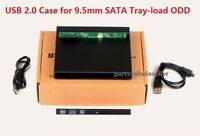 External USB Slim Case Enclosure For 9.5mm SATA Laptop Tray Load CD DVD drive