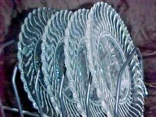 SET Of  4   FOSTORIA, COLONY, 8.25  SALAD 0R LUNCHEON PLATES   GREAT, WOW