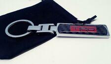 TRD CHROME CARBON KEYRING TOYOTA SUPRA CELICA GT4 MR2 GT86 GLANZA STARLET YARIS