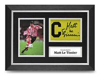 Matt Le Tissier Signed A4 Photo Framed Captains Armband Display Southampton +COA