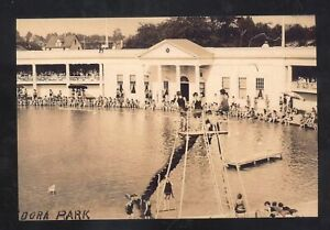 REAL PHOTO YOUNGSTOWN OHIO IDORA PARK SWIMMING POOL POSTCARD COPY