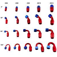 4AN 6AN 8AN 10AN 12AN Straight Fuel Swivel Fitting Hose End Oil Fuel Adaptor