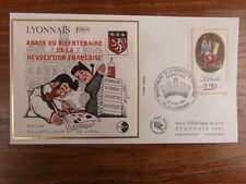 FDC BLOC CACHET PREMIER JOUR FRANCE CNEP SALON PHILATELIQUE LYONNAIS 1989 surch.