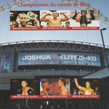 Chad 6895 - 2017  WORLD BOXING CHAMPIONS   imperf sheetlet containing 6 values