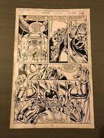 Ravage 2099 #13 original art FEARMASTER wicked battle page ANIMEK 1993 MARVEL