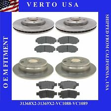 4 New Front and Rear Brake Rotors and 8 Ceramic Pads for a 05-10 Honda Odyssey