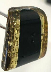Vintage 2-Color Bakelite Button with Gold Flecks