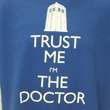 Doctor Who Trust Me I'm the Doctor Tardis Police Call Box Whovian T-Shirt Large