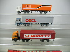 ae190-0, 5 #3X Wiking H0 Container SEMITRAILER: IVECO seawheel, Scania Ceti +