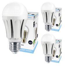 3 x 10W GLS LED Cool White Light Bulb E27 Edison Screw 5000K A60 800 Lumens