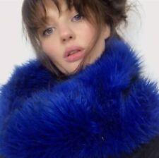 Electric Blue Faux Fur Scarf