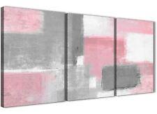 3 Piece Blush Pink Grey Painting Hallway Canvas Decor - Abstract 3378 - 126cm