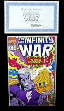 Infinity War Issue # 6 Ron Lim Signed Comic with COA Marvel Comics 1992 NM+