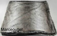 """Martha Stewart Collection Ombre Faux Fur 50"""" X 60"""" Throw Gray / Brown"""