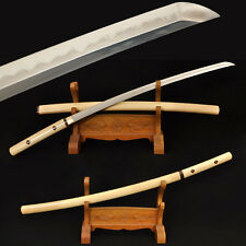 Japanese  Samurai Sword Shirasaya Katana Clay Tempered Damascus Folded Steel 41""