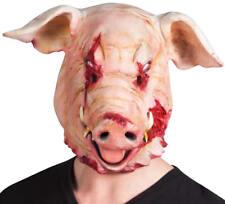 Maske blutendes Schwein Latex Horror Grusel Karneval Fasching Halloween