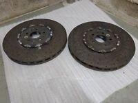2 x KERAMIK FERRARI FF F12 274334 CCM VA Carbon Ceramic 400 x 38 PAAR VORNE!
